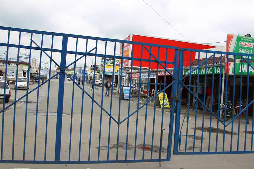"""Закрытый по решению властей рынок """"Алмаз"""", в Аксайском районе"""