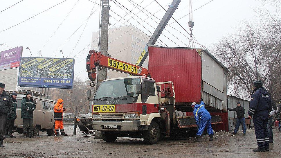 Из более чем 120 киосков на улице Гагарина будут снесены 90 незаконных торговых точек