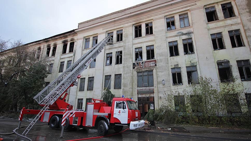 Предварительной версией пожара всамарском доме печати является поджог