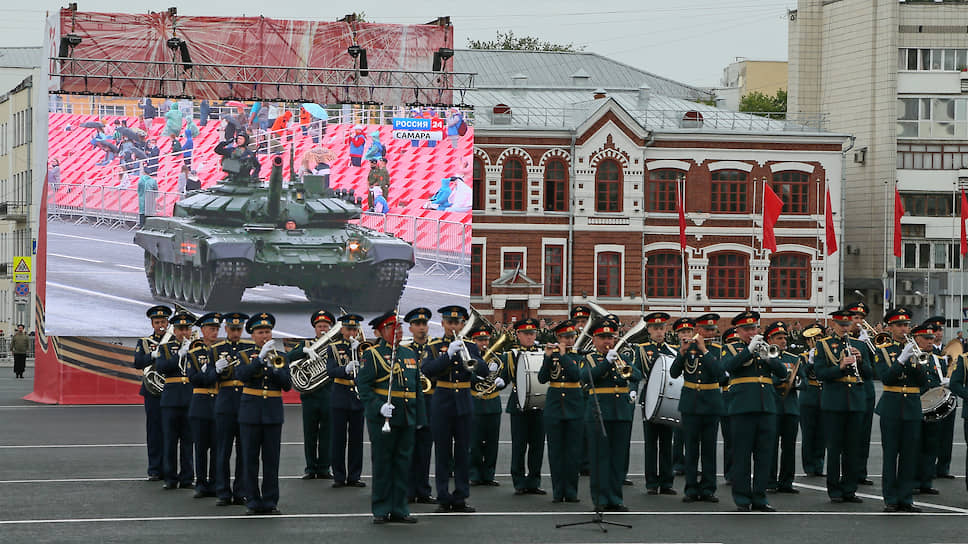 Военный оркестр.