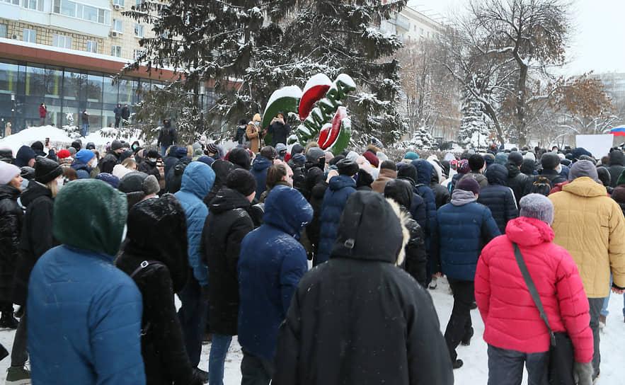 Всего набралось несколько тысяч участников шествия