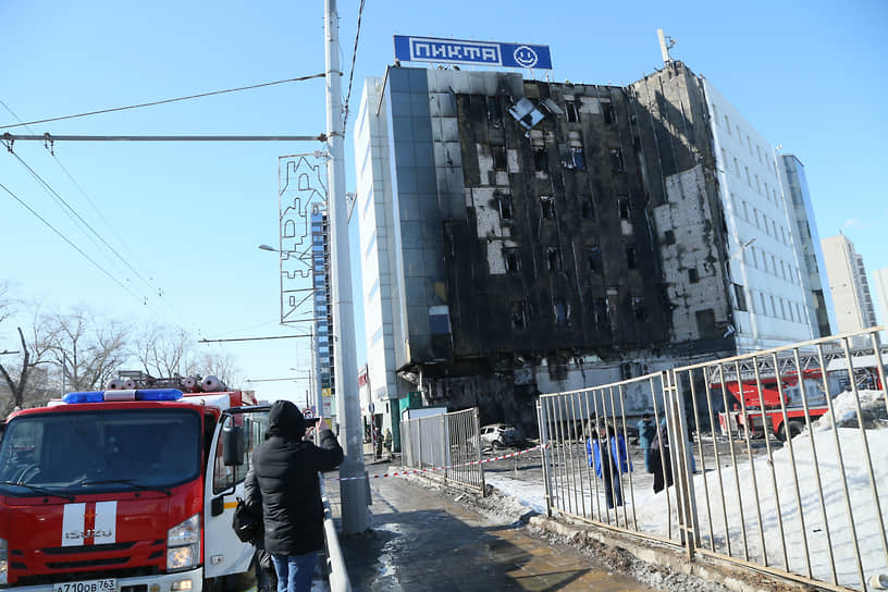 Пожар в ТЦ «Скала» произошел днем 12 марта