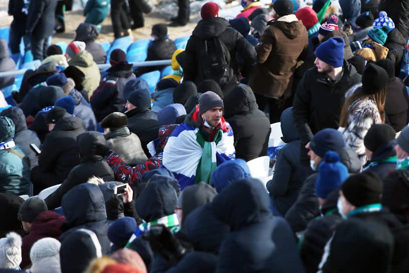 Матч «Крыльев Советов» против омского «Иртыша», которая прошел на «Металлурге» 14 марта, посмотрели 2622 человека