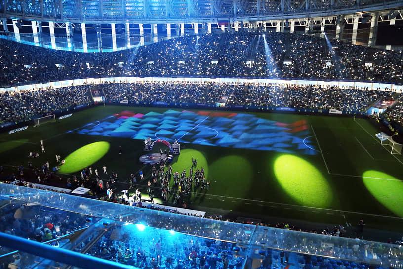Световое шоу на стадионе