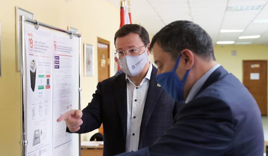 Губернатор с депутатом отметили высокий уровень технической организации на избирательных участках.