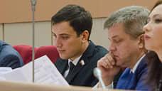 Иван Дзюбан (слева) выступил вобластной думе вподдержку студенческих отрядов