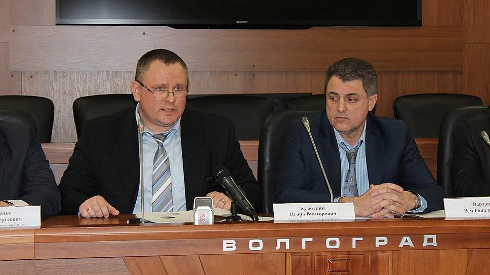 Игорь Кузюткин (слева) и Рем Вартанов заявили, что частные инвестиции не помешают, а помогут развитию городского электротранспорта