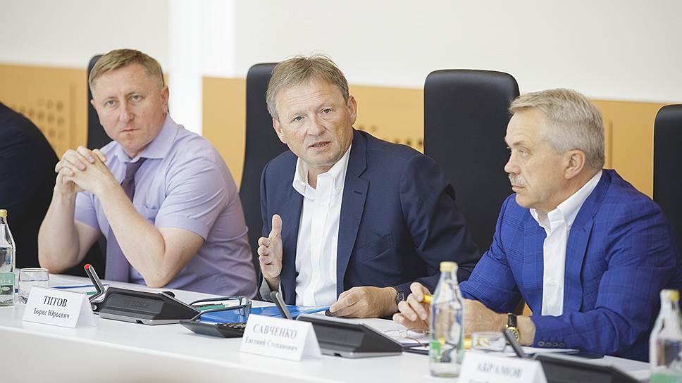 Белгородские предприниматели попросили у Бориса Титова  (в центре ) защиты для себя и коллег со всей страны