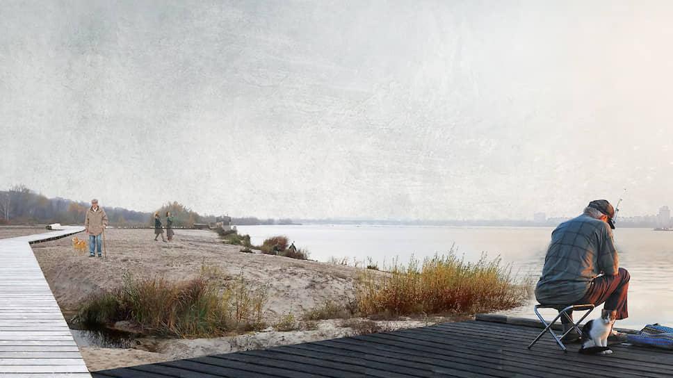 Большого «морской» пляж должен включать рощу, пляж и семь пристаней-узлов.