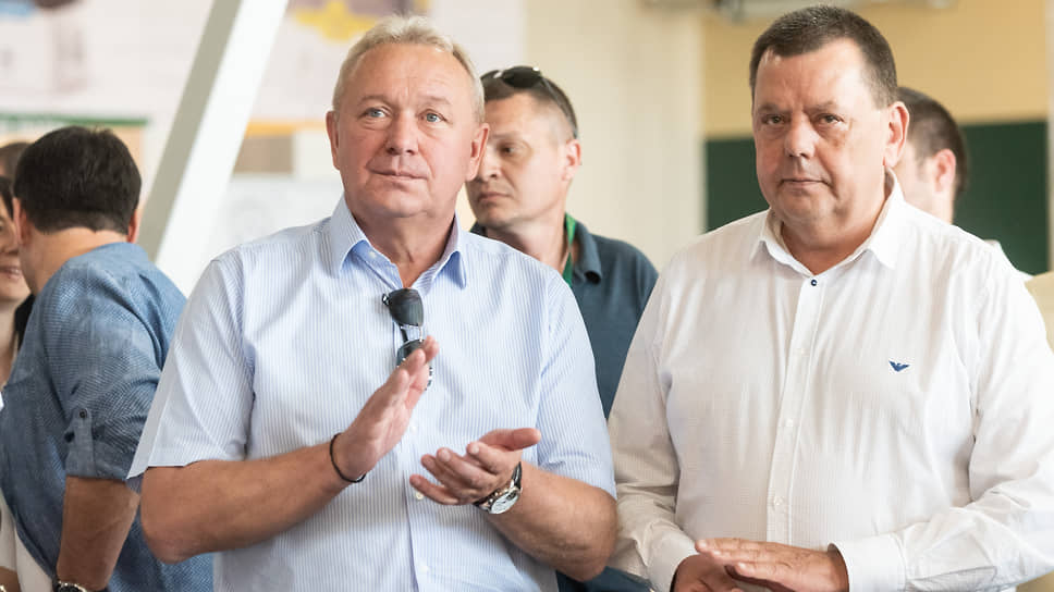 Глава компании «Выбор» Александр Цыбань (слева) и председатель совета директоров ДСК Александр Трубецкой могут вместе поработать над проектом застройки яблоневых садов