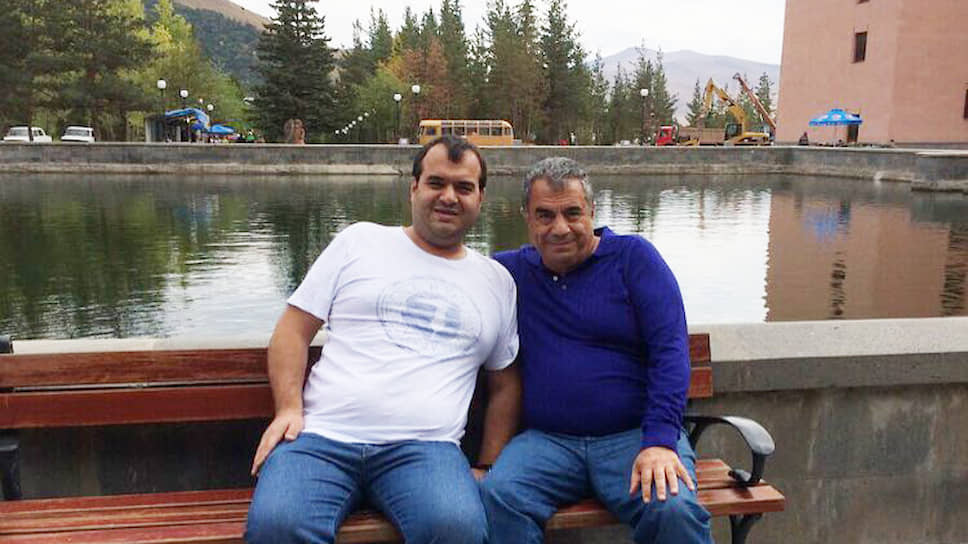 Бизнесмен, лидер курдской диаспоры в Тамбове Джамал Шамоян (справа) и его сын Руслан