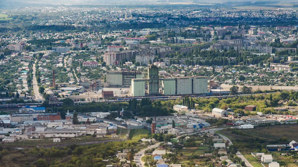 Вид города Россошь с высоты
