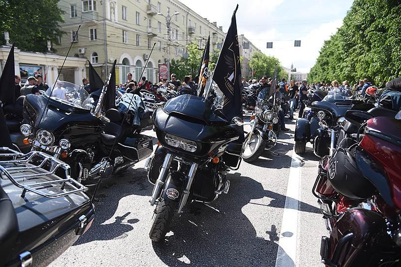 Байкеры из десяти городов прибыли в Воронеж