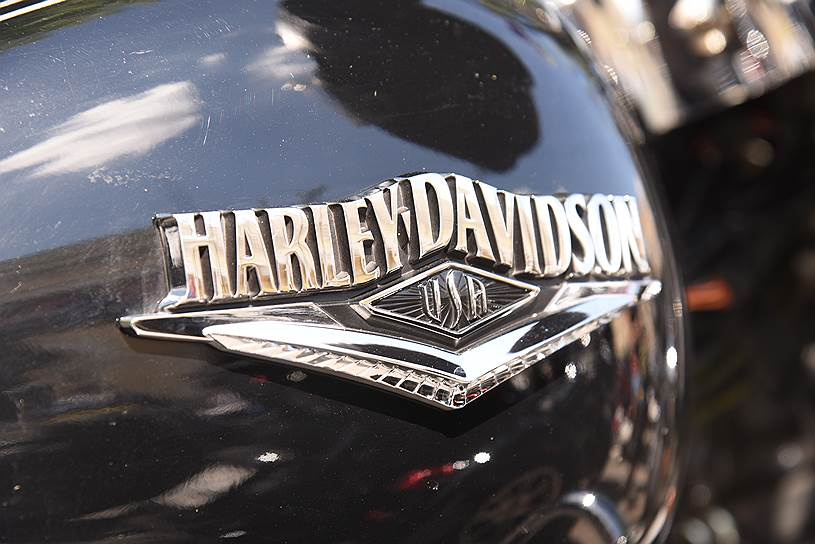 Большинство участников мотопарада предпочитали мотоциклы Harley-Davidson