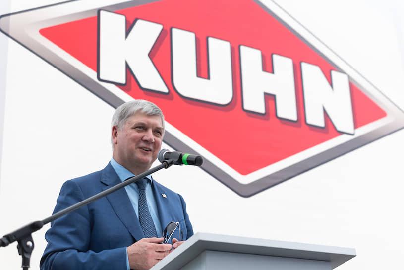 Торжественная церемония закладки первого камня завода Kuhn в России