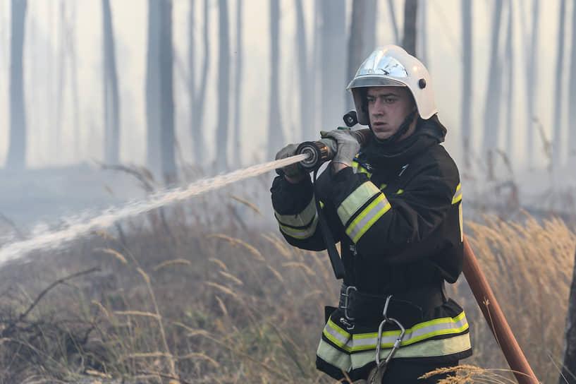 Пламя выжгло подстилку и уничтожило сухие деревья, которые падали после выгорания нижней части