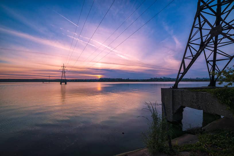 Вид в направлении правобережной части Воронежа