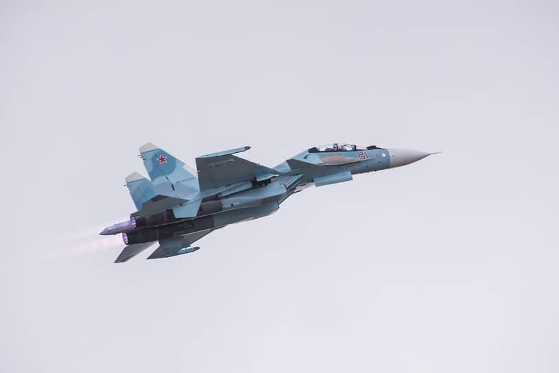 Учебно-тренировочный вылет на истребителе Су-30СМ