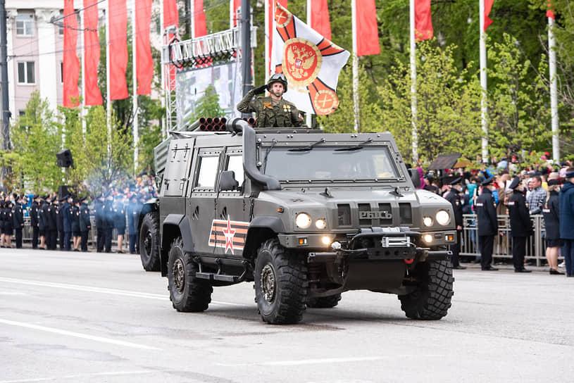 Бронеавтомобиль «Рысь», стоящий на вооружении отдельного подразделения специального назначения 20-й армии