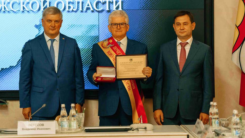 Директор НВ АЭС Владимир Поваров стал почетным гражданином Воронежской области /