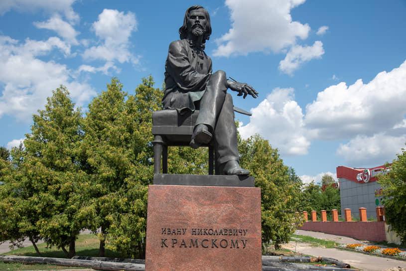 Острогожск. Памятник художнику И.Н. Крамскому