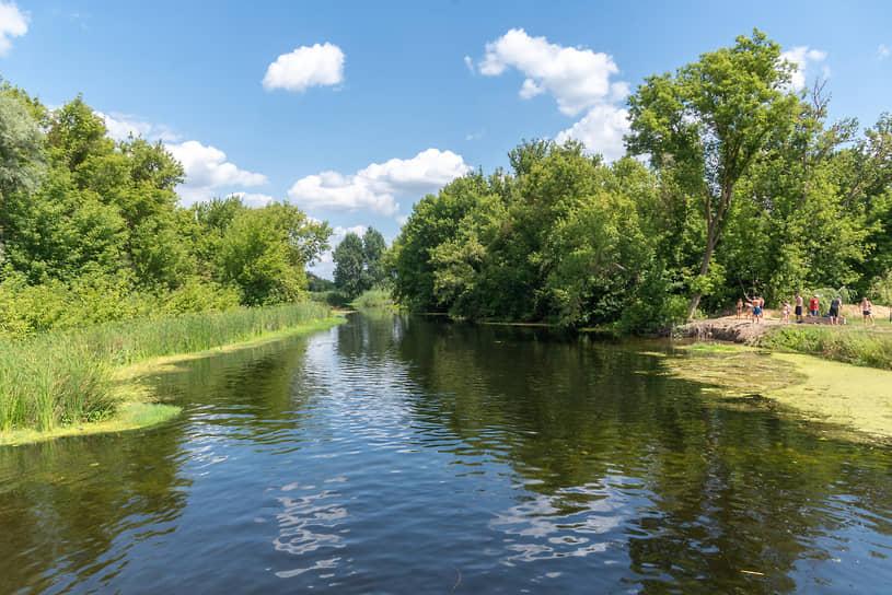 Острогожск. Набережная реки Тихая Сосна