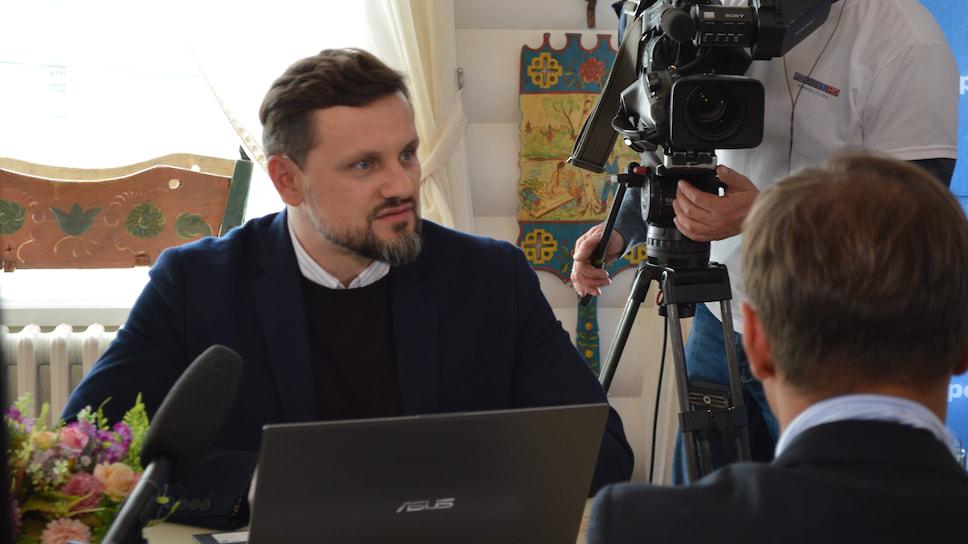 """Модератор конференции, директор """"Ъ-Ярославль"""" Алексей Доскин"""