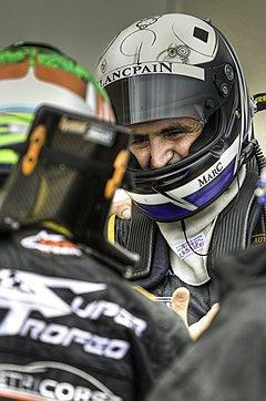 Марк Хайек защищает цвета Blancpain на треке Paul Ricard