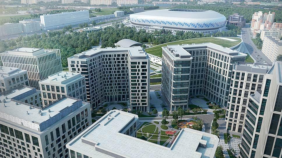 Жилой  квартал проекта «ВТБ Арена парк»