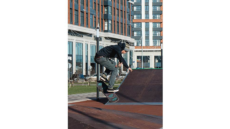 Скейт-парк на территории жилого комплекса «Сердце cтолицы»