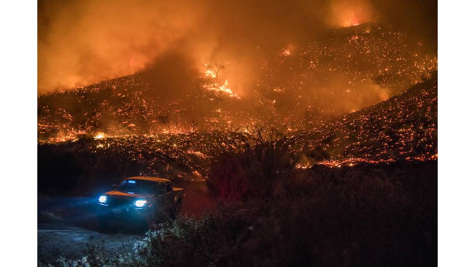 Во время пожаров в Калифорнии