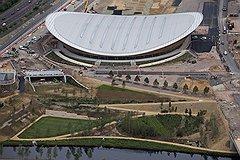 """Велодром в Олимпийском парке. Ландшафтный дизайн является приоритетом для организаторов """"зеленой олимпиады"""""""