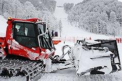 На тестовых соревнованиях снега было даже слишком много, так что пришлось убрать излишки