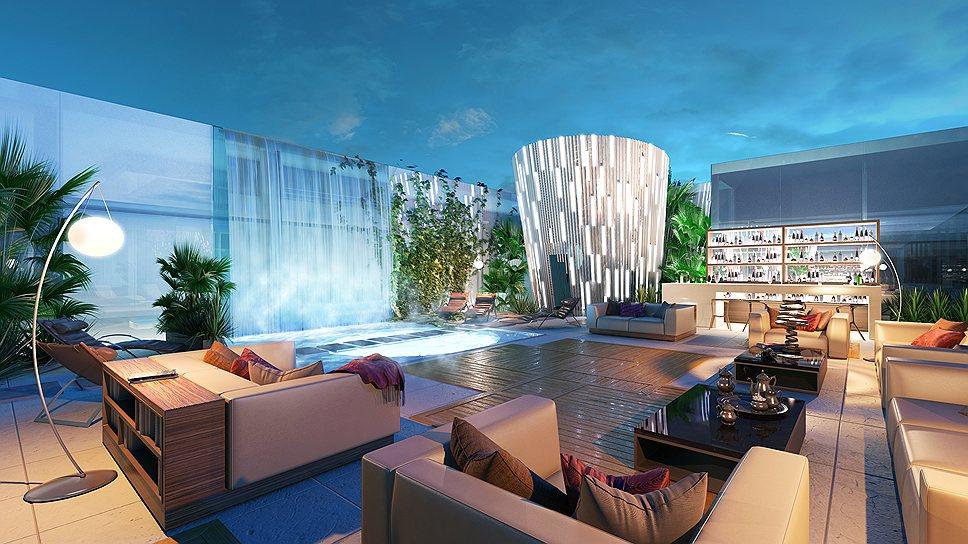"""В пентхаусе """"Дома на Мосфильмовской"""" тоже есть бассейн на 200-метровой высоте, правда, в частном пользовании"""