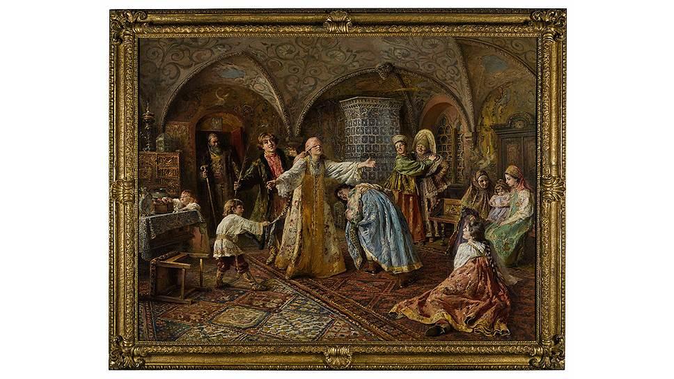 Константин Маковский. «Игра в жмурки». 1890-е. Sotheby's