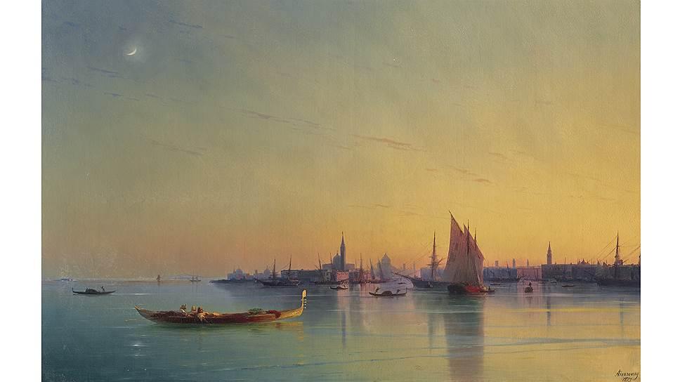 Иван Айвазовский. «Закат в Венеции». 1873. Christie's