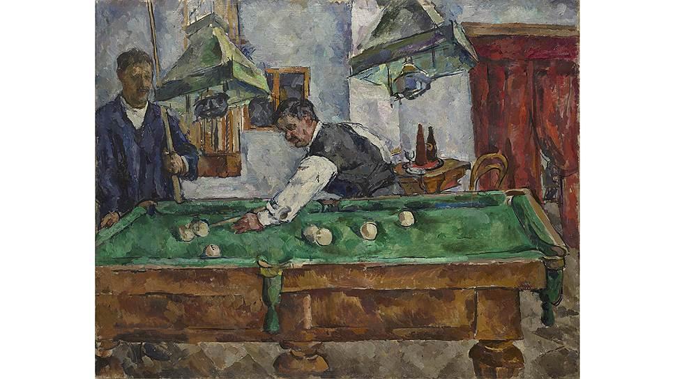 Петр Кончаловский. «Игра в бильярд (П. Кончаловский и А. Лентулов)». 1918. MacDougall's
