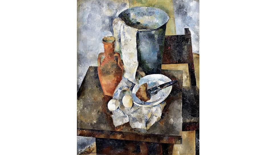 Василий Рождественский. «Натюрморт с глиняным кувшином». 1921. Bonhams
