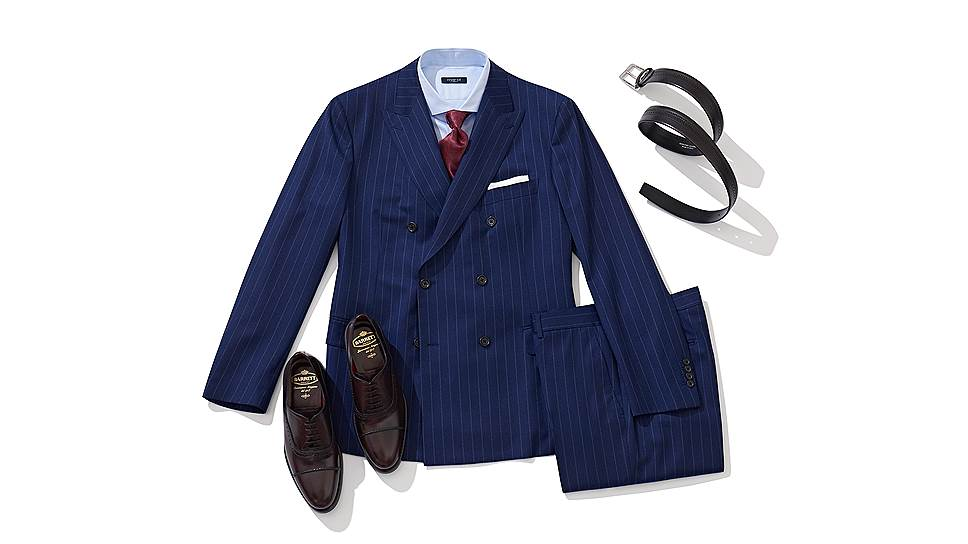Костюм Atelier Portofino, ремень Barrett. обувь Barrett, сорочка Marol, галстук Italo Ferretti