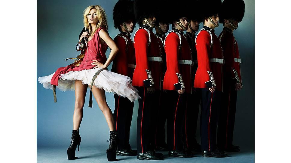 Кейт Мосс, съемка для британского Vogue, Марио Тестино, 2009