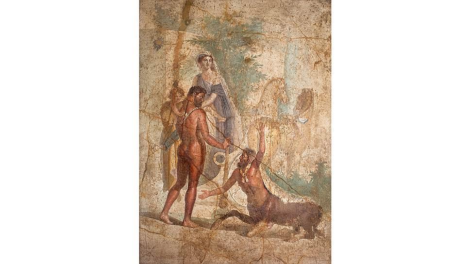 Фреска «Геракл и Несс» из собрания Национального археологического музея Неаполя, I в. н. э.