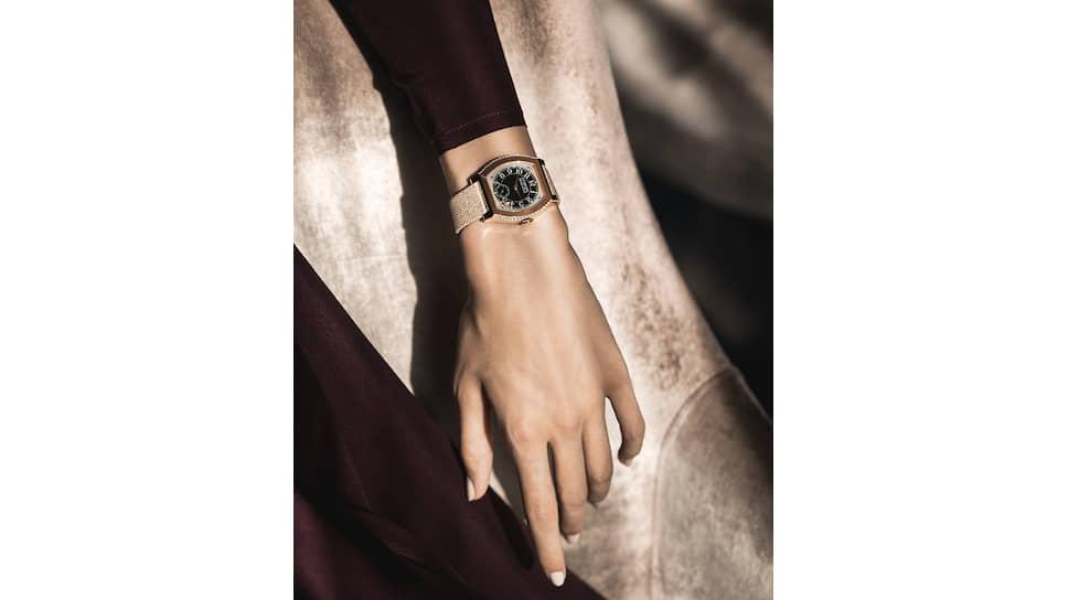 Elegante, 40 мм, розовое золото, платина, электромеханический калибр