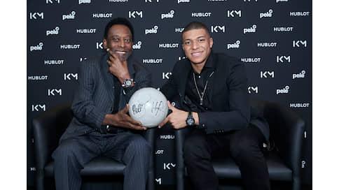 Спортсмены нашего времени  / Пеле и Килиан Мбаппе на церемонии Hublot