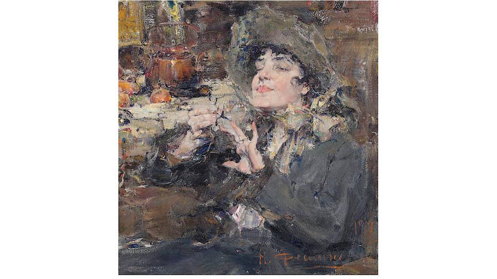 Николай Фешин, «Дама за маникюром. Портрет мадемуазель Жирмо», 1917 год