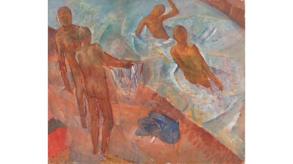 Кузьма Петров-Водкин, «Купающиеся мальчики», 1921 год