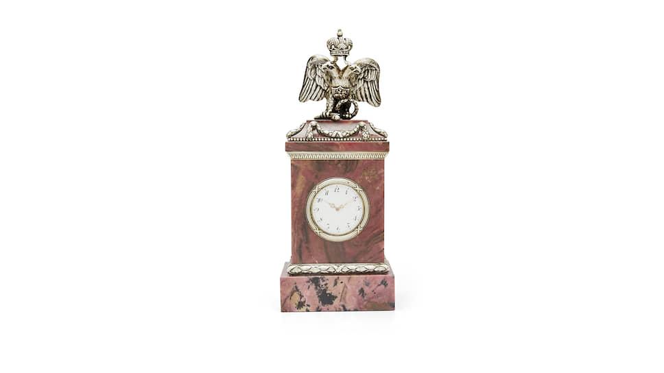 Часы Фаберже из родонита, 1910–1917 годы