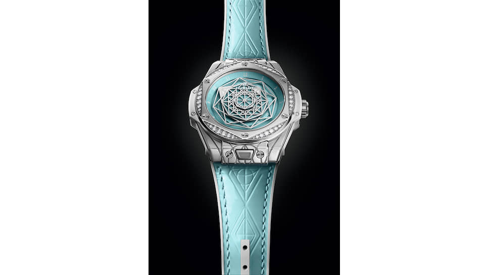Часы Hublot Big Bang One Click Sang Bleu Steel Turquoise