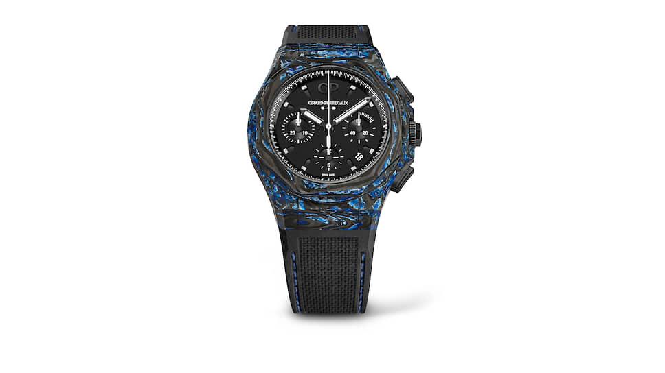 Girard-Perregaux Laureato Absolute Rock. Хронограф с мануфактурным механизмом с автоподзаводом в корпусе 44 мм из углепластика