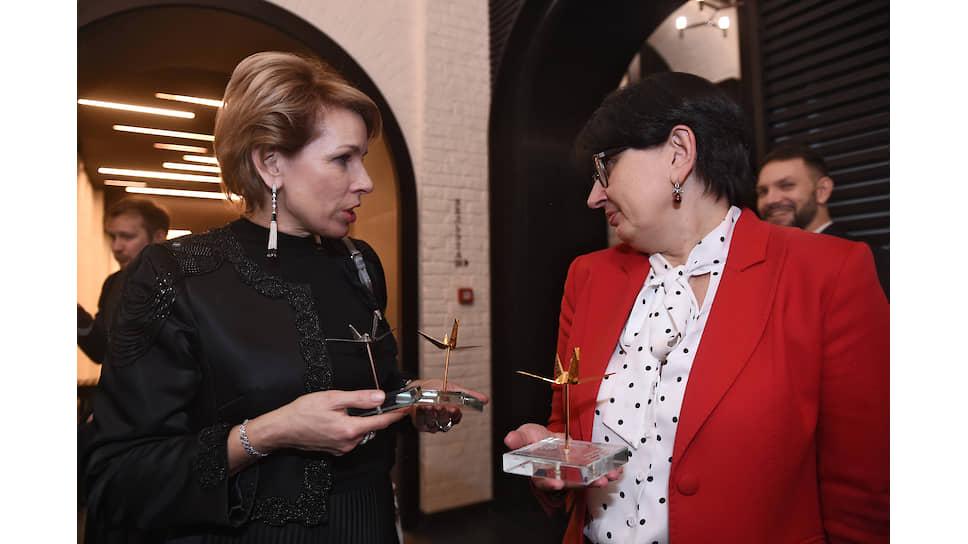 Ирина Седых («ОМК-Участие») и Оксана Орачева (Фонд Владимира Потанина)