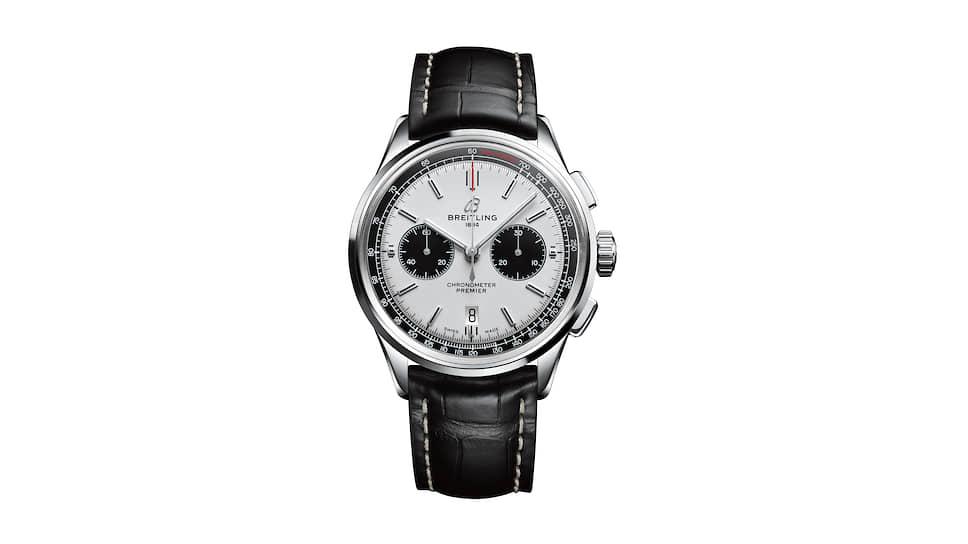 Breitling, часы Premier B01 Chronograph 42, 42 мм, сталь, механизм с автоматическим подзаводом